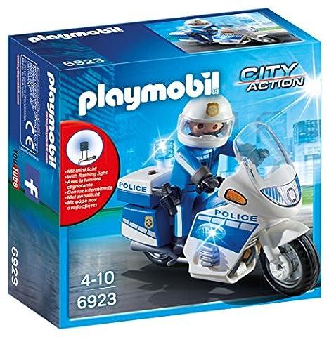 Playmobil - 6923 - Jeu - Moto Policier avec