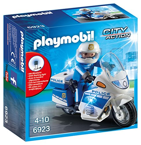 Playmobil Policía - Policía Moto Luces LED 6923