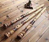 professionnel Flûte de bois de hêtre xiao chinois Shakuhachi courte Type 2sections