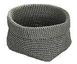 Wenko 2620100 Häkelkörbchen Malia Grau, 100% Polypropylen, 16 x 16 x 16 cm, Grau