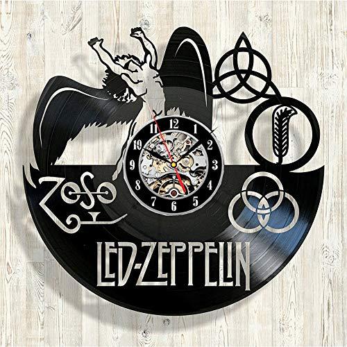 Mddjj Led Zeppelin Vinyl-Wanduhr - Handgemachtes Geschenk Zum Geburtstag Oder Zu Anderen Anlässen Wohnzimmer Dekoration