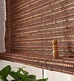 WUFENG Hecho A Medida Persiana De Bambú Panel De Cortina De Bambú Cortinas Anti-insectos Para Puertas Balcón Salón Salón De Té Cortina De Sol cortina ( Color : A-1/sq.m )