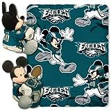 Northwest NFL Mickey Mouse Kissen mit Fleece Überwurf Decke Set, unisex, Philadelphia Eagles