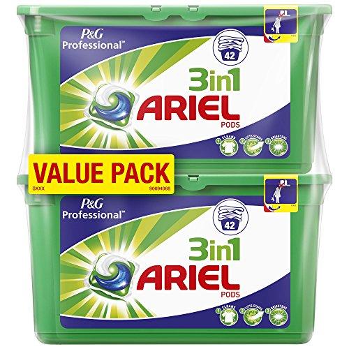Ariel 3in1 PODs Vollwaschmittel, 2 x 42 Waschladungen