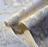 QXLML Tapeten europäischen Luxus 4D dreidimensionale Pferd Leder fein geprägt Vliestapete Schlafzimmer Wohnzimmer TV Hintergrundbild 10 * 0,53 (M) ( Color : Creamy-white )