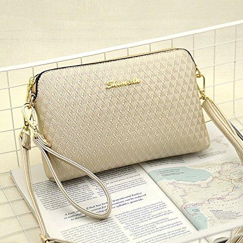 LiZhen Ms. Pacchetti estate piccoli Messenger Nuovo marea coreana elegante spalla una croce-pacchetto a mano minimalista, selvatici diamond silver -Kim