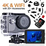 ccbetter Action Cam 4K Ultra Full HD Unterwasserkamera 20MP Wifi Action Kamera Wasserdicht Sport...