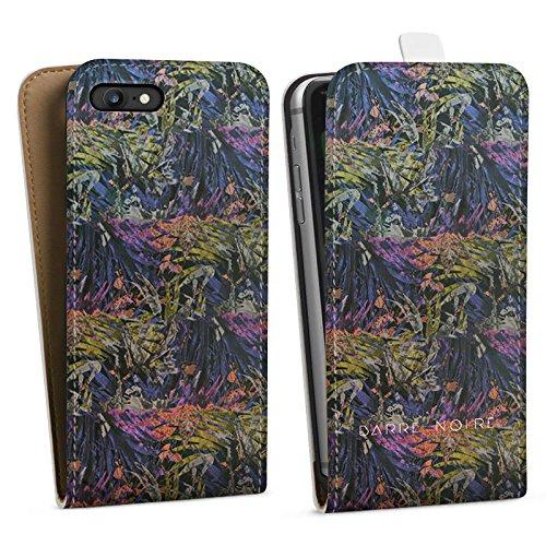 Apple iPhone X Silikon Hülle Case Schutzhülle dschungel Muster Pflanzen Downflip Tasche weiß