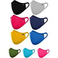 OCEAN RACE Cotton Anti Pollution 3 Layer Reusable Face Mask- Any 6 Random Color will be Delivered,Multi Colors (6)