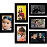 Tonkwalas Collage Individual Photo Frames, Set of 6,Wall Hanging (3 pcs - 4x6 inch, 3 pcs - 6x4 inch) (Half Inch Stick…