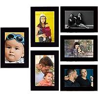 Tonkwalas Collage Individual Photo Frames, Set of 6,Wall Hanging (3 pcs - 4x6 inch, 3 pcs - 6x4 inch) (Half Inch Stick…