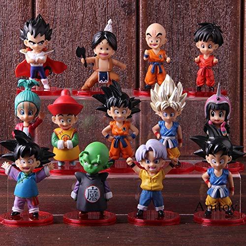 Dragon Ball Z Stämme Son Goku Gohan Goten Vegeta Piccolo Upa Bulla Chichi Krillin Action Figure Sammeln Modell Spielzeug 13 Teile/Satz