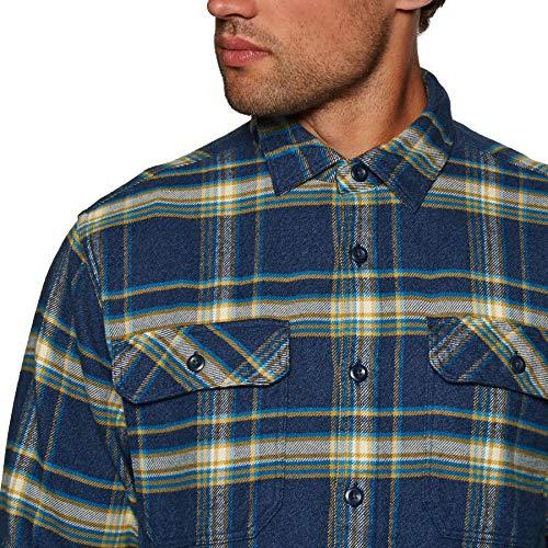 Long Sleeved Fjord Flannel Shirt Men's L Mens Activist:navy Blue