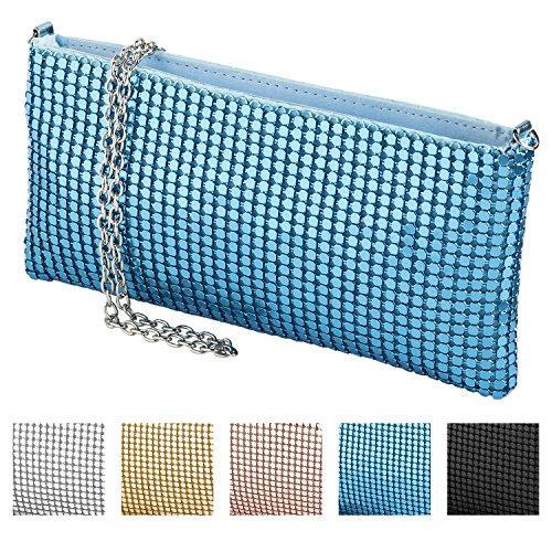 cecilia&bens mini Clutch mit Pailletten | 20er Jahre Accessoires Blau | Mädchen Umhängetasche klein