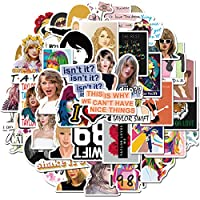 ‏‪Singer Taylor Alison Swift Stickers 50PCS for Laptop and Water Bottles,Waterproof Durable Trendy Vinyl Laptop Decal Stickers Pack for Teens, Water Bottles, Computer, Travel Case (Taylor Swift)‬‏