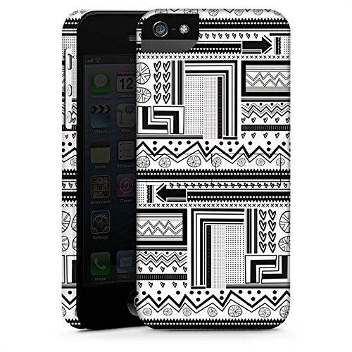Apple iPhone X Silikon Hülle Case Schutzhülle Ethnostyle Abstrakt Muster Premium Case StandUp