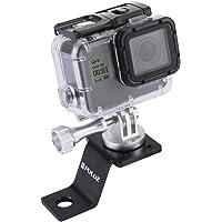 PULUZ Accessori Moto Specchio/bullone Supporto Fisso Metallo Bici Supporto per GoPro Hero 5 4 sessione Nero Argento 4 3…