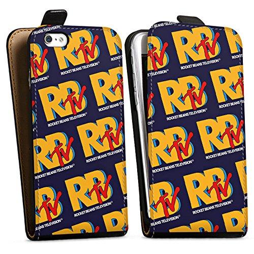 Apple iPhone X Silikon Hülle Case Schutzhülle Rocket Beans TV RBTV Merchandise Downflip Tasche schwarz