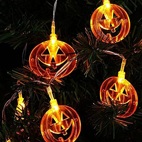20 Halloween LED Fairy String Lights,2M Omiky® Icicle Rattan Lights Curtains Lantern Rope Lamp Lights Striking Backdrops for Wedding Halloween Xmas Garden Party (Pumpkins)