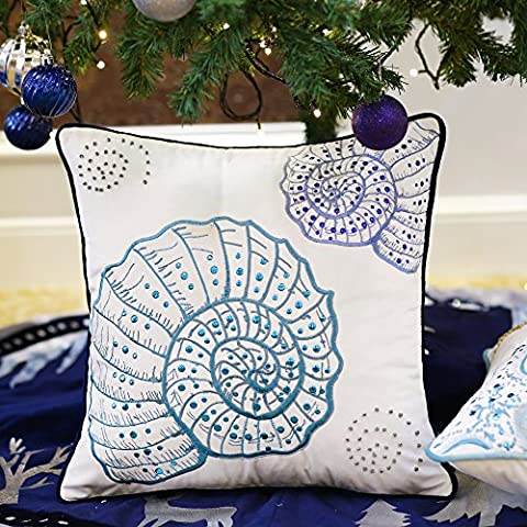 Valery Madelyn Cushion Covers Embroidery Sequins Cotton Velvet Soft Throw