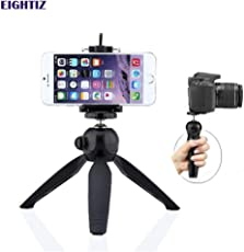 Eightiz Mini Tripod Stand Universal Mobile Holder / mobile mount Clip,for Digital Camera & iPhone, Android Phone Smartphones and Selfie Sticks, DSLR, Go-pro Camera and other Digital camera with universal holder(Black)