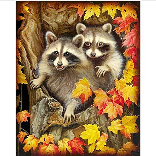 WENYAZ Puzzles Für Erwachsene 1000 Stück Tier Eichhörnchen Blätter Home Decor Für Wohnzimmer Kunst Montage Holzpuzzle (Eichhörnchen-montage-kit)