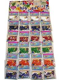 TEC UK 24sachets Perles d'eau Perles d'eau Cristal Aqua Gems en gel bio Cristaux d'eau Jelly Décoration de vases de mariage