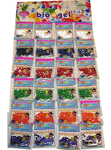 Tec UK 24bolsas perlas de agua cristal de agua cuentas Aqua gemas...