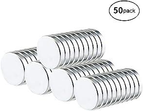 Neodym Magnete, Vitutech Magnete Rund Klein Magnetes Ultra Starke Magnet würfel 10mm Mini Magnete für Whiteboard, Pinnwand, Magnettafel, Kühlschrank - 50 Stück