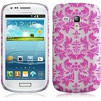 JAMMYLIZARD | Damast- Motiv Back Cover Hülle für Samsung Galaxy S3 Mini, ROSA