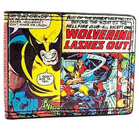 Marvel X-men Wolverine Multicoloured ID & Card Bi-Fold Wallet