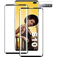 Verre Trempé pour Samsung S10, [2 Pièces] [Ultra Claire] [Dureté 9H][Compatible avec Le capteur d'empreinte Digitale…