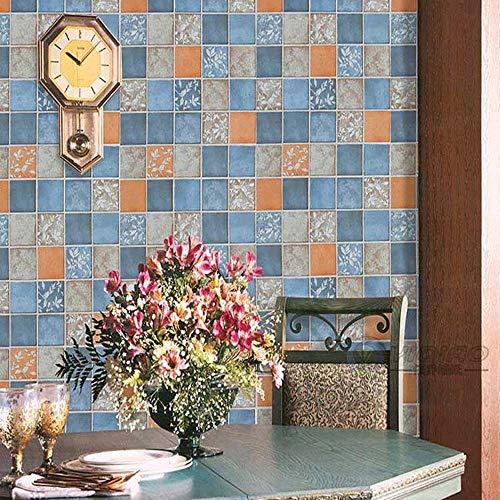 sche Gittertapete, blühende Wand: Faux rustikale toskanische Backsteinmauer Muster Tapetenrolle für Wohnzimmer Schlafzimmer, 1m (3,28 'W) X 10m (32,81' L) = 10㎡ (107,62 Sq.ft) ()