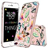 MOSNOVO iPhone 6S Hülle, iPhone 6 Hülle, Schmetterling Muster TPU Bumper mit Hart Plastik Hülle Durchsichtig Schutzhülle Transparent für iPhone 6 / iPhone 6S (Schmetterling)