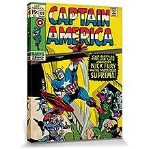 Capitán América - Captain America, Suprema, Marvel Comics Cuadro, Lienzo Montado Sobre Bastidor (80 x 60cm)