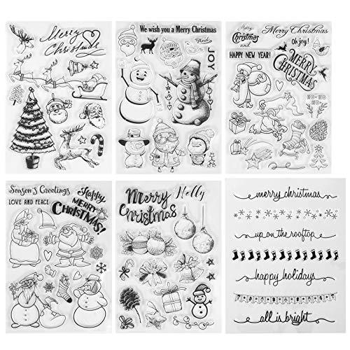 Kesote Stempel Clear Set, Weihnachten Clear Stamps Silikon Wiederverwendbar (ca. 75 Stück)