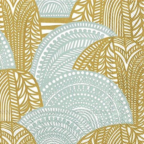 vuorilaakso-gold-silver-marimekko-finnish-dinner-napkins-pack-of-20-christmas-napkins-dinner-size-40