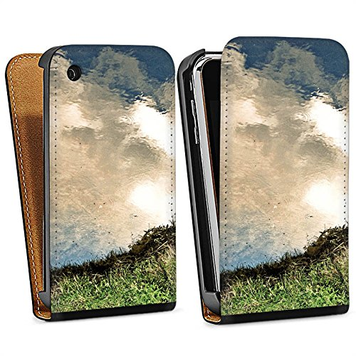 Apple iPhone 6 Housse Étui Silicone Coque Protection Eau Water Prairie Sac Downflip noir