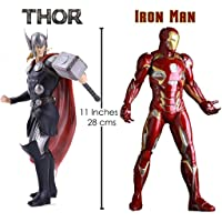 "Anokhe Collections Marvel Avengers Combo "" Iron Man : Infinity War and Thor : GOD of Thunder "" 1:6 Scale 28 cm Tall…"
