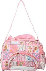Kuber Industries Rexine 35 cms Pink Baby Bag (KUBBABY0472)