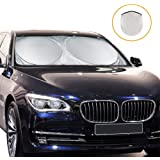 Maxi Windshield Sunshade Cover for Car, Foldable Sunshade, Automotive Sunshade for SUV, Truck, Jeep, Vans Reflective Coating