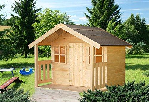 Italfrom casette di legno casetta felix da giardino per bambini in legno d'abete 16mm-1,9mq-112x180cm