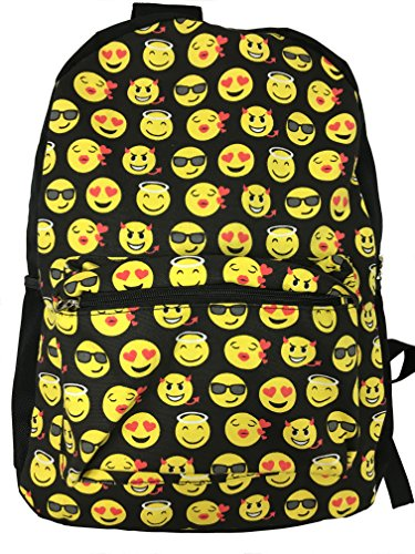 61VMg2 JSIL - Desire Deluxe Stylish School Backpack Rucksack Emojis Shoulder Book Bag for Boys Girls 34 x 14 x 44cm