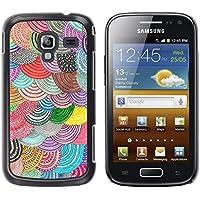 WonderWall Carta Da Parati Immagine Custodia Rigida Protezione Cover Case Per Samsung Galaxy Ace 2 I8160 Ace II X S7560M - Beret colorato arte DIY