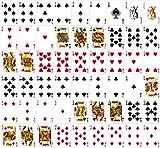 5 x 100% Plastikkarten, Pokerkarten, Poker, normaler Index, 2 Symbole