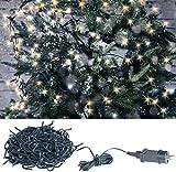 Lunartec Weihnachts Lichterkette: LED-Lichterkette mit 320 LEDs für innen & außen, IP44, warmweiß, 32 m (Christbaumbeleuchtung LED)