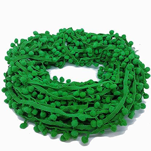 22Meter grün Pom Pom Trim Trimmen Nähen Craft 10mm Bobble Fransen Pompon Qualität £ 12.99. von Zubehör Dachboden® -