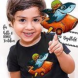 ilka parey wandtattoo-welt® Bügelbilder Applikation Rennfahrer Hai Bügelbild Bügelmotiv Haifisch Aufbügelbilder für Jungs bb062