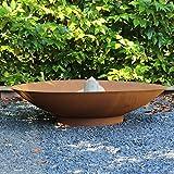 Braciere da giardino Moderno 80 sguardo arrugginito - con una finitura marrone resistente al calore …