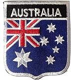 Australien Aufnäher Aufbügler Bügelbilder Sticker Applikation Iron on Patches für Frauen Kinder Jacken Jeans Stoff Kleidung Kleider Flaggen Fahnen zum aufbügeln